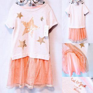 💕Cat & Jack Sequin Star Dress size 10/12 (L)💕